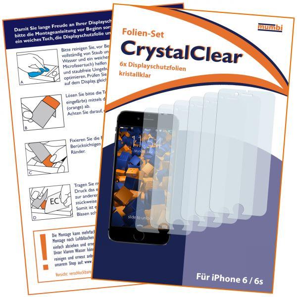 3D Touch Displayschutzfolie 6 Stck. CrystalClear für Apple iPhone 6 / 6s