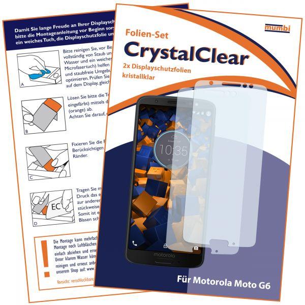 Displayschutzfolie 2 Stck. CrystalClear für Motorola Moto G6