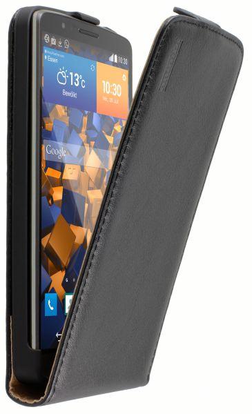 Flip Case Ledertasche schwarz für LG G3