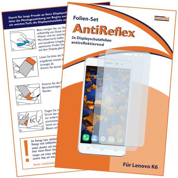 Displayschutzfolie 2 Stck. AntiReflex für Lenovo K6
