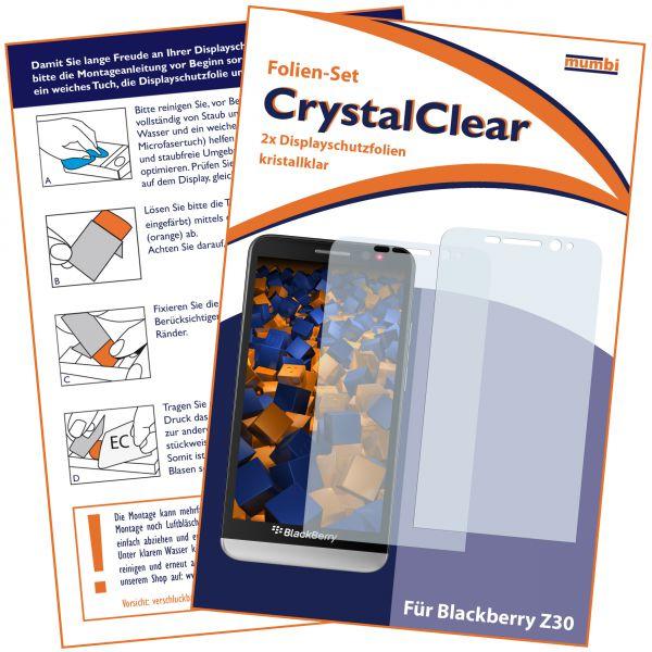 Displayschutzfolie 2 Stck. CrystalClear für BlackBerry Z30