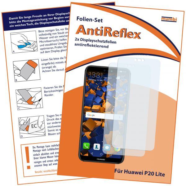 Displayschutzfolie 2 Stck. AntiReflex für Huawei P20 Lite