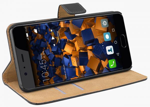Bookstyle Tasche schwarz für Huawei P10 Plus