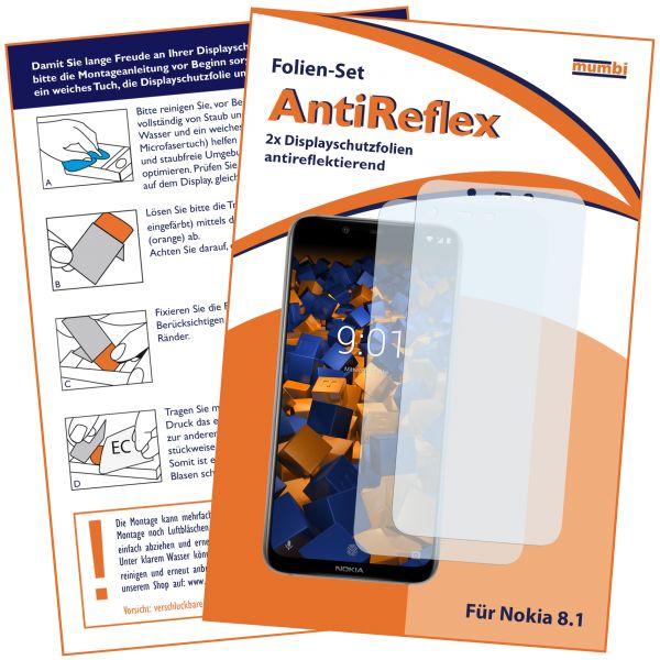 Displayschutzfolie 2 Stck. AntiReflex für Nokia 8.1