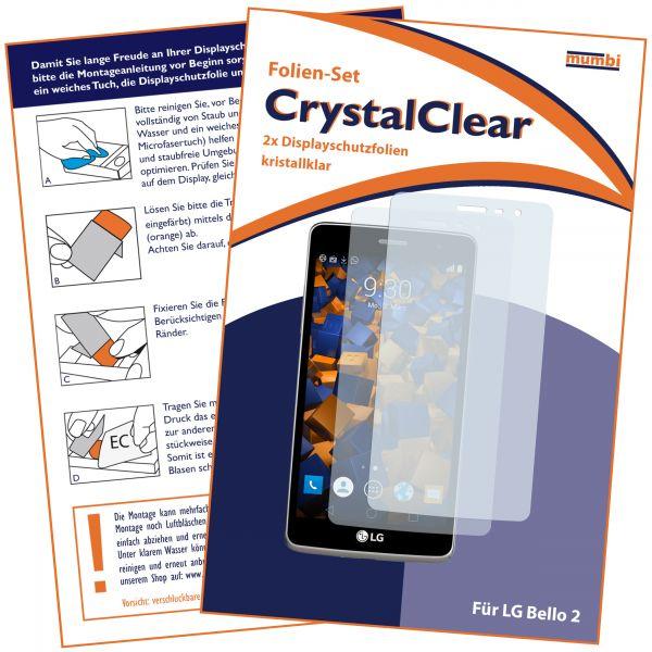 Displayschutzfolie 2 Stck. CrystalClear für LG Bello 2