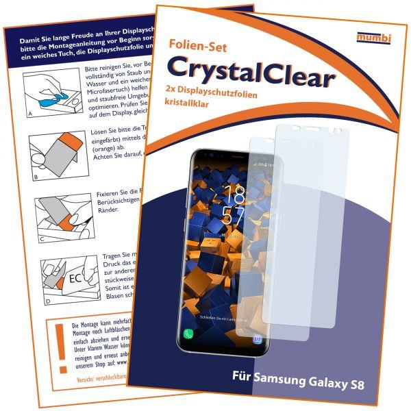 Displayschutzfolie 2 Stck. CrystalClear für Samsung Galaxy S8