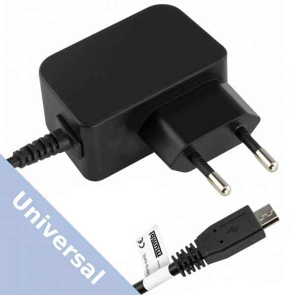 Universal Ladegerät Steckernetzteil auf Micro USB 2000 mA schwarz
