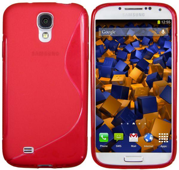 TPU Hülle S-Design rot für Samsung Galaxy S4