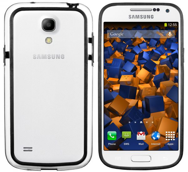 TPU Hülle Bumper Schutzhülle schwarz für Samsung Galaxy S4 Mini