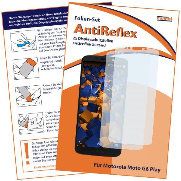 Displayschutzfolie 2 Stck. AntiReflex für Motorola Moto G6 Play