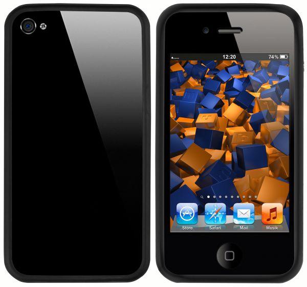 TPU Hülle Bumper Schutzhülle schwarz für Apple iPhone 4 / 4s