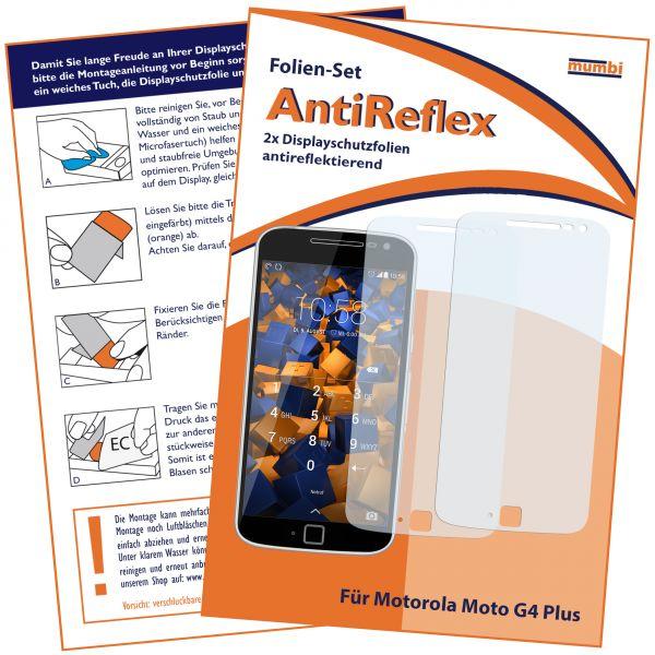 Displayschutzfolie 2 Stck. AntiReflex für Motorola Moto G4 Plus