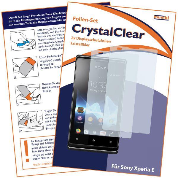 Displayschutzfolie 2 Stck. CrystalClear für Sony Xperia E / E Dual