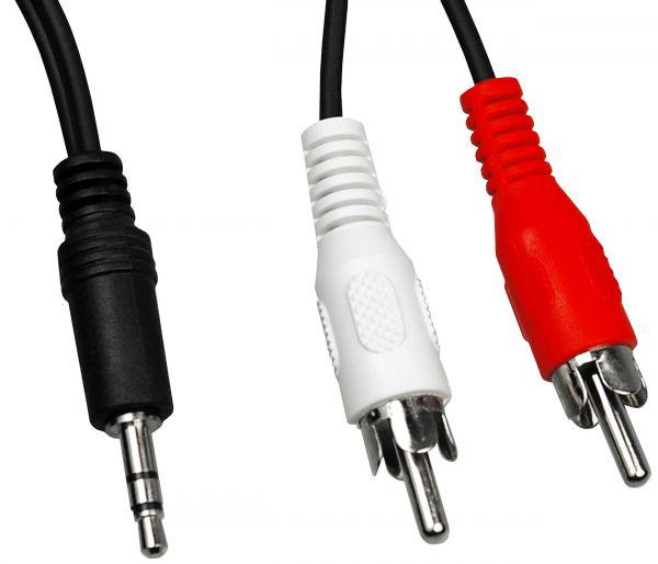Y Audiokabel 5 m Stereo Klinkenstecker 3,5 mm auf Cinch Stecker
