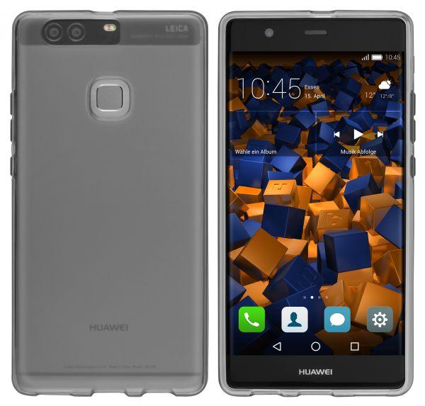 TPU Hülle schwarz transparent für Huawei P9 Plus