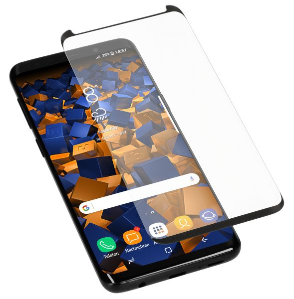 3D Panzerglasfolie Full Screen Case Friendly 6H für Samsung Galaxy S9