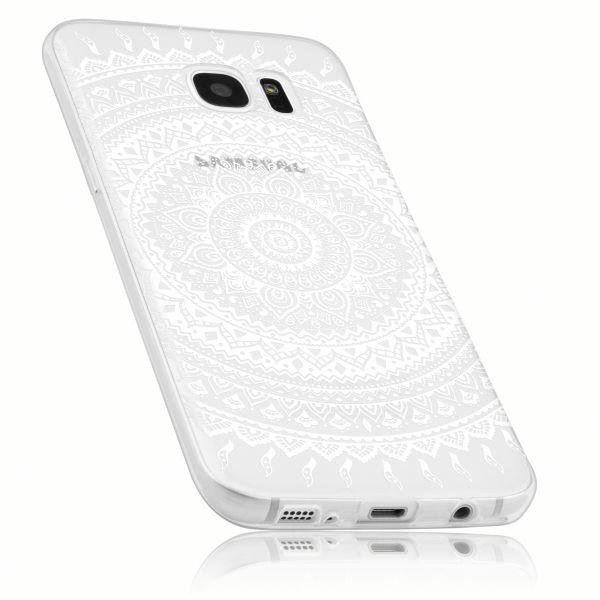 TPU Hülle Ultra Slim transparent Motiv Mandala für Samsung Galaxy S7