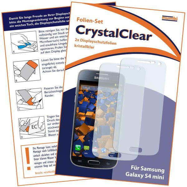 Displayschutzfolie 2 Stck. CrystalClear für Samsung Galaxy S4 Mini