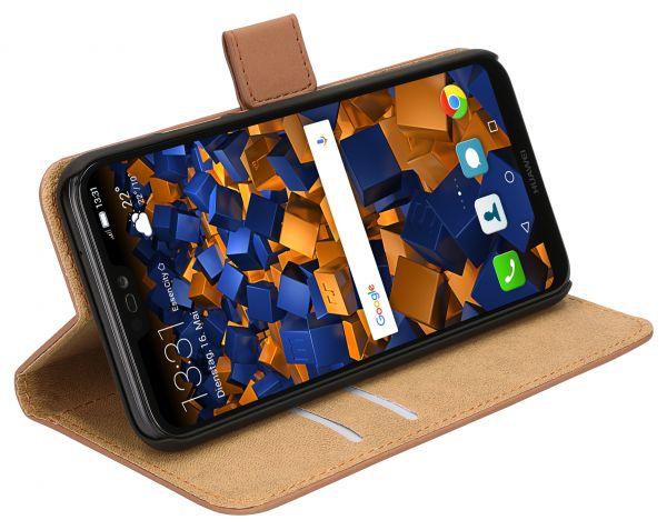 Bookstyle Tasche braun für Huawei P20 Lite