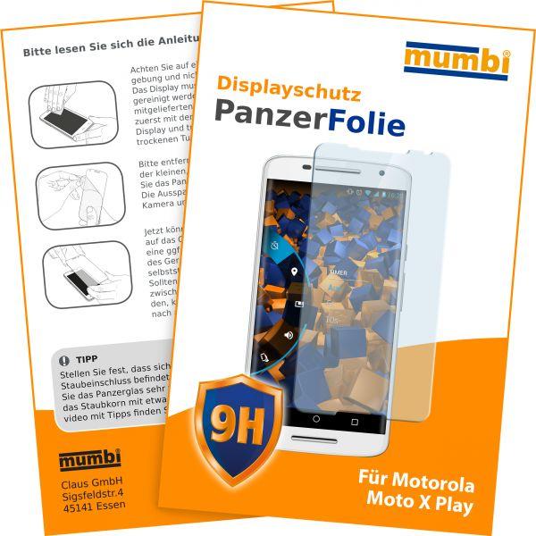 Panzerglasfolie Hartglas 9H für Motorola Moto X Play