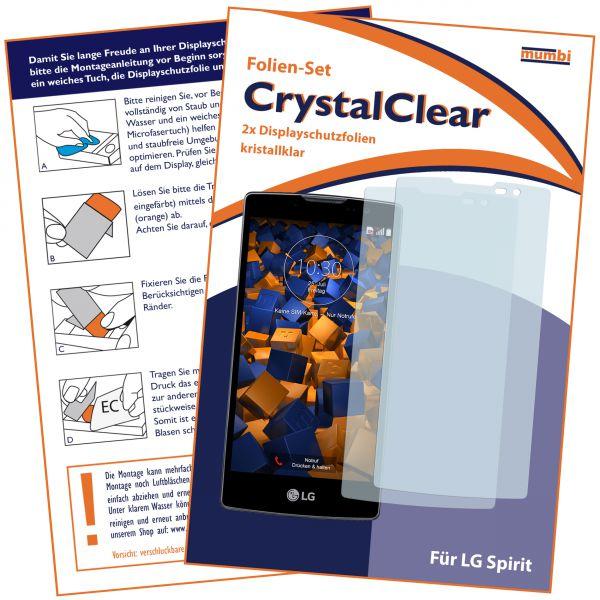 Displayschutzfolie 2 Stck. CrystalClear für LG Spirit 4G