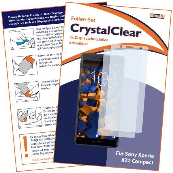 Displayschutzfolie 2 Stck. CrystalClear für Sony Xperia XZ2 Compact
