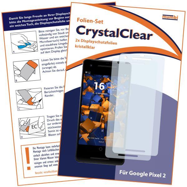 Displayschutzfolie 2 Stck. CrystalClear für Google Pixel 2