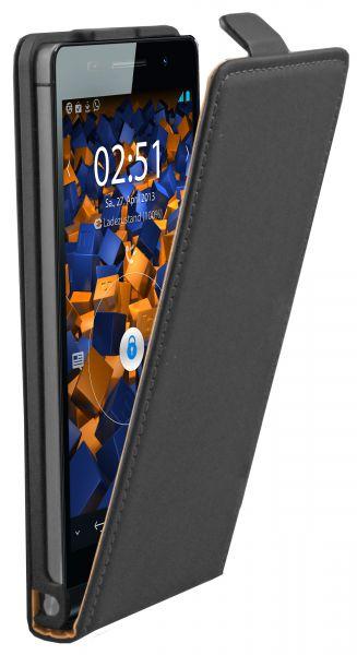 Flip Case Tasche schwarz für Huawei Ascend P6