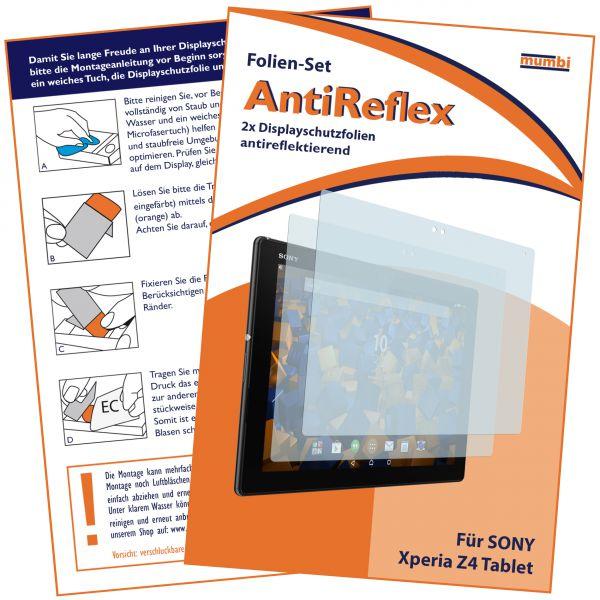 Displayschutzfolie 2 Stck. AntiReflex für Sony Xperia Z4 Tablet