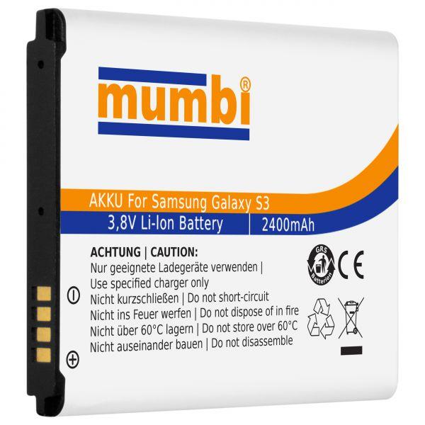 Ersatzakku Lithium-Ionen 2400 mAh (ohne NFC) für Samsung Galaxy S3 / S3 Neo