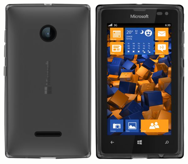 TPU Hülle schwarz transparent für Microsoft Lumia 532