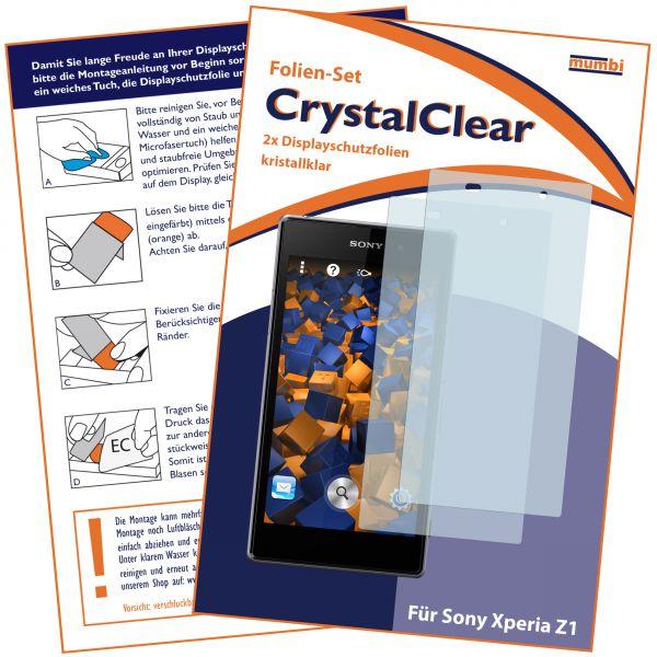 Displayschutzfolie 2 Stck. CrystalClear für Sony Xperia Z1
