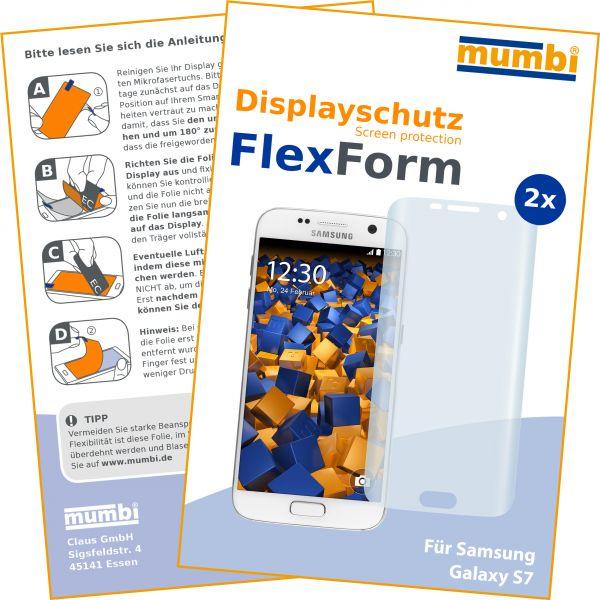 Displayschutzfolie 2 Stck. FlexForm für Samsung Galaxy S7