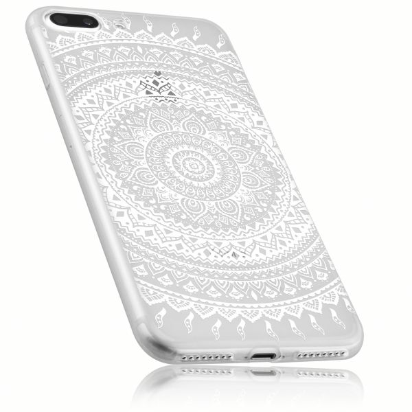 TPU Hülle transparent Motiv Mandala für Apple iPhone 8 Plus / 7 Plus