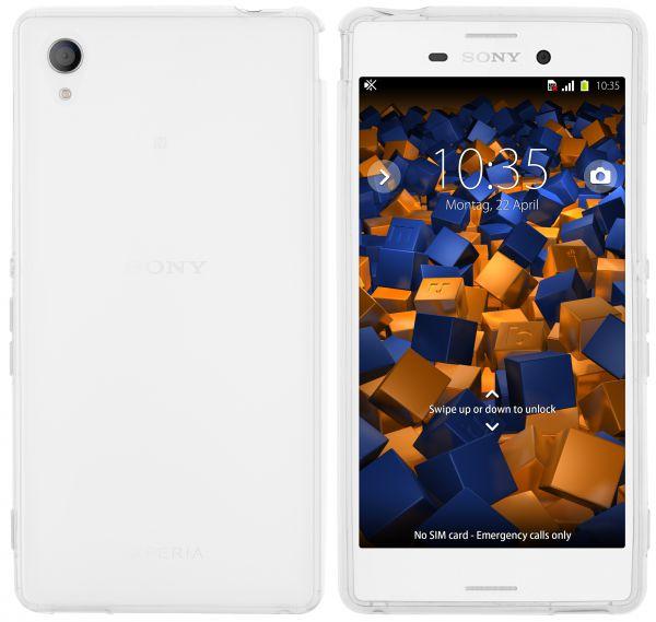 TPU Hülle weiß transparent für Sony Xperia M4 Aqua