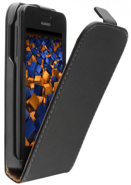 Flip Case Tasche schwarz für Huawei Ascend Y330