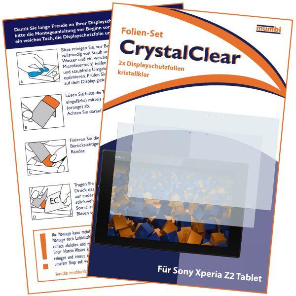 Displayschutzfolie 2 Stck. CrystalClear für Sony Xperia Tablet Z2
