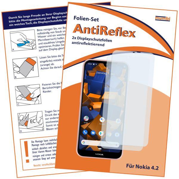Displayschutzfolie 2 Stck. AntiReflex für Nokia 4.2