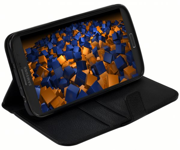 Bookstyle Tasche schwarz für Samsung Galaxy Mega 6.3
