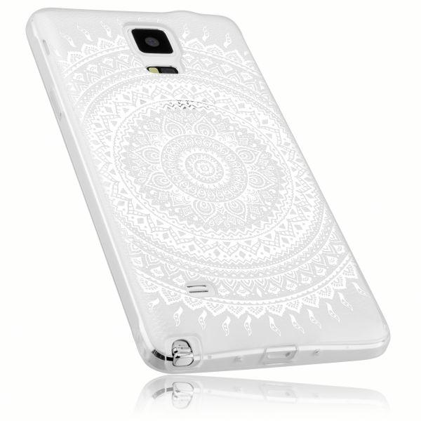 TPU Hülle transparent Motiv Mandala für Samsung Galaxy Note 4