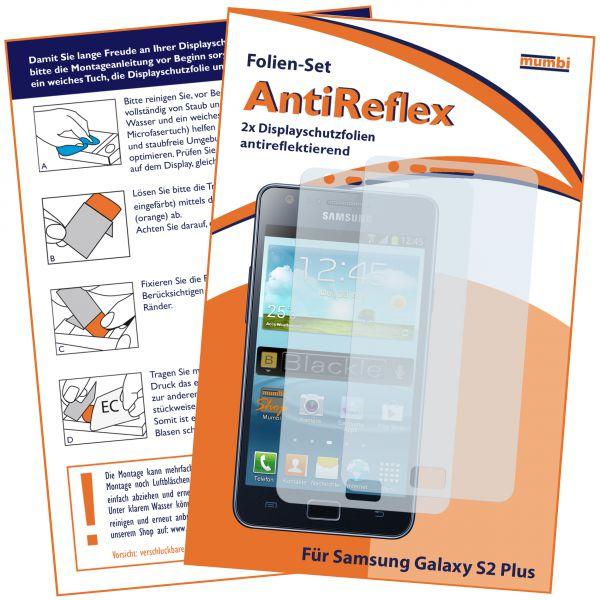 Displayschutzfolie 2 Stck. AntiReflex für Samsung Galaxy S2 Plus