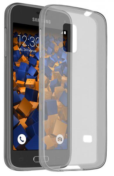 TPU Hülle Ultra Slim schwarz transparent für Samsung Galaxy S5 mini