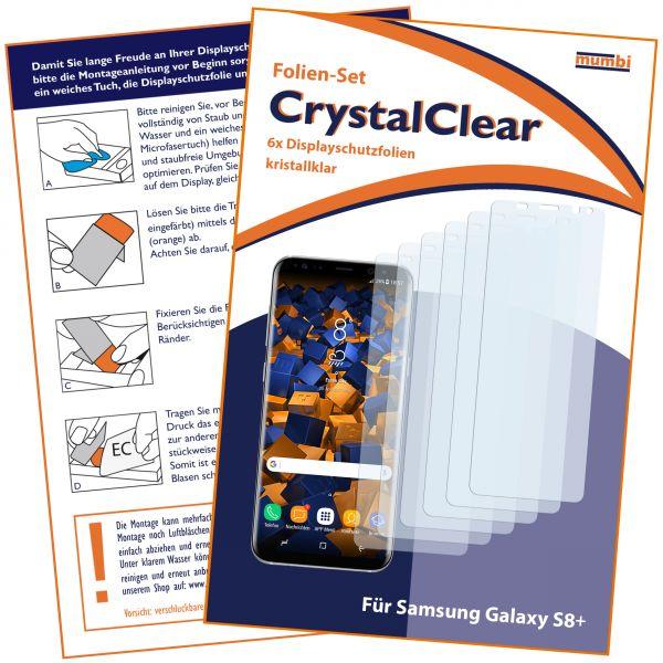 Displayschutzfolie 6 Stck. CrystalClear für Samsung Galaxy S8 Plus