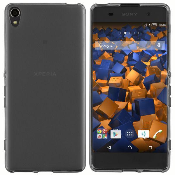 TPU Hülle schwarz transparent für Sony Xperia XA