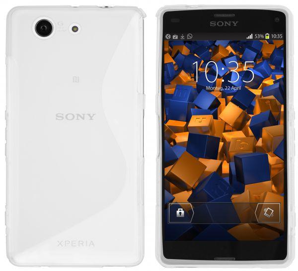 TPU Hülle S-Design weiß transparent für Sony Xperia Z3 Compact