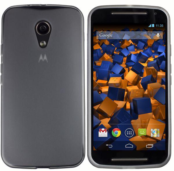 TPU Hülle schwarz transparent für Motorola Moto G 2. Generation