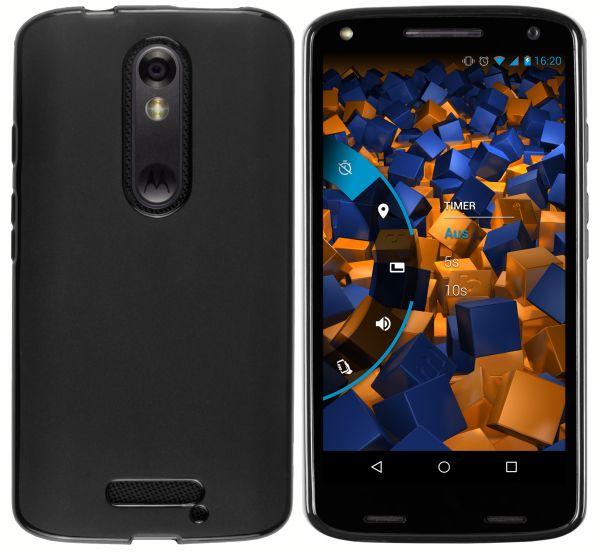 TPU Hülle schwarz für Motorola Moto X Force