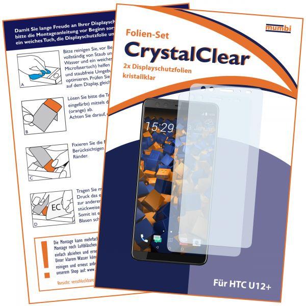 Displayschutzfolie 2 Stck. CrystalClear für HTC U12 Plus
