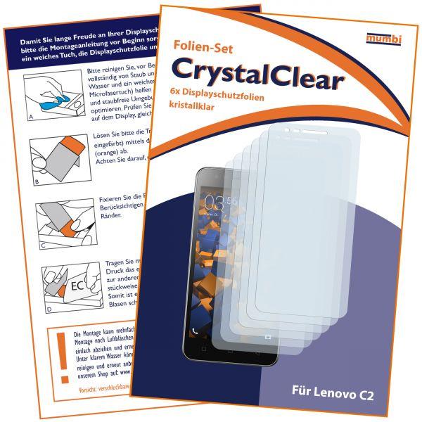 Displayschutzfolie 6 Stck. CrystalClear für Lenovo C2