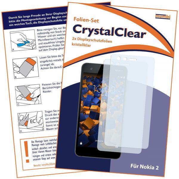 Displayschutzfolie 2 Stck. CrystalClear für Nokia 2